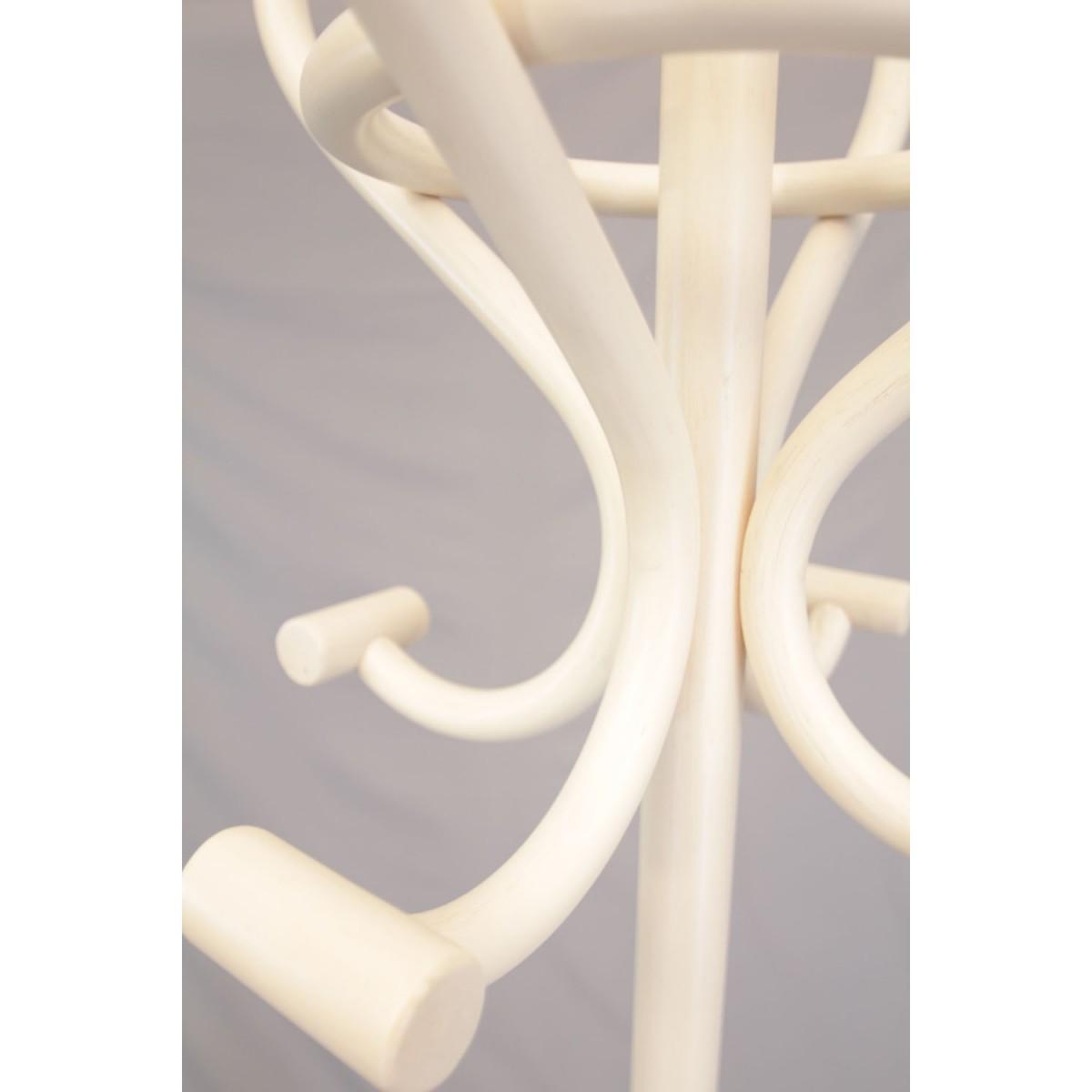 Porte Manteau Perroquet Blanc porte manteaux perroquet rotin coloris blanc sur pied 8 patères